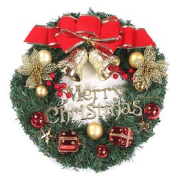 Flowers For wreaths online shopping - Large Artificial Flower Garlands Christmas Wreath XMas inside and outside perfect Deco Christmas for shops offices
