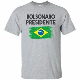 Grey Tee Shirts UK - Jair Bolsonaro Presidente Brasil 2018 T-Shirt White Sport Grey Tee Flag S 6XL