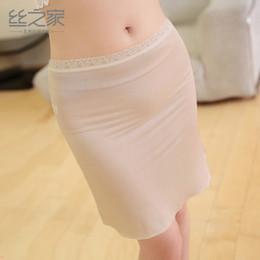 Silk bodieS online shopping - 2018 Rushed Dames Kleding New Summer Silk Petticoat Female Body Bottom Dress Three Slip Without A Sense Of Ultra thin Type