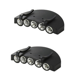 Новая Фара Ночной Рыбалки 5 LED Hat Клип Ежедневно Работающий от Батареи Освещение Крышки Открытый Отдых Инструмент на Распродаже