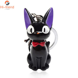 totoro necklace 2020 - Miyazaki Anime Kiki's Delivery Service Keychain Cute Witch CAT JIJI Figures Keyring My Neighbor Totoro Key Chain ki