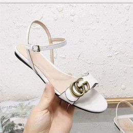 Strap Muscles Australia - Brand new Sexy shoes Woman Summer Buckle Strap Rivet Sandals Flat Shoes Open toe Fashion Beach Sandals