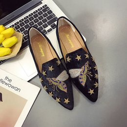 summer plus size cloths Australia - Women Flat Shoes Casual Slip On Single Cloth Shoes Lady Loafer Pointed Toe Fashion Plus Size Espadrilles Female Footwear new R04
