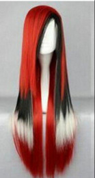 red white cosplay wigs NZ - WIG shipping Unique lolita is mixed red black white Cosplay wig