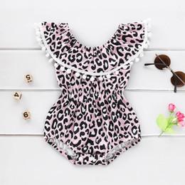 Toddler Leopard Jumpsuit Australia - Ins leopard baby romper newborn baby girl clothes Newborn Romper Girls One Piece Clothing tassels Infant Jumpsuit toddler girl clothes A4201
