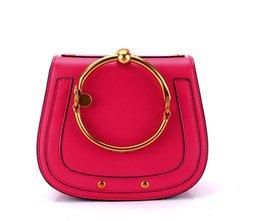 Red Stud Handbags Australia - Famous Brand Inspired High Quality Genuine Leather Nile Saddle Bags Bracelet Bangle HandBags Studs Purse Satchel For Women