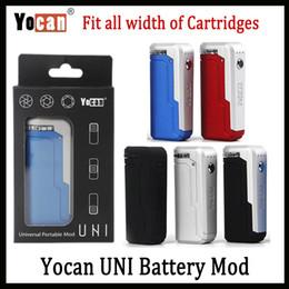 Vente en gros Yocan UNI Box Mod 650mAh 10s Préchauffer VV Variable Volta Réglable Support De Diamètre Et Taille Convient Tout Atomiseur 5 Couleur Vs Vmod Paume