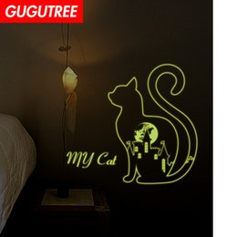 $enCountryForm.capitalKeyWord NZ - Decorate Home Diy cats cartoon art glow wall sticker decoration Decals mural painting Removable Decor Wallpaper G-506