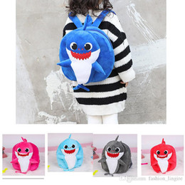 $enCountryForm.capitalKeyWord Australia - 42019 new 3D Cartoon Baby Shark Plush Backpack for Children Cute Plush School Bag for Girls Boys Animal Backpack Mini Cartoon Preschool Bag
