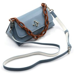Acrylic squAre boxes online shopping - Ins Square Box Bags Handbags Retro Pu Leather Shoulder Bags For Women Acrylic Chain Solid Color Clutch