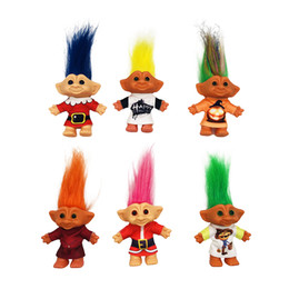 $enCountryForm.capitalKeyWord Australia - Colorful Hair Troll Dolls Big Size with Christmas Cloth Action Figures Doll Super Cute Long Hair Lucky Trolls Toy Gifts for Kids