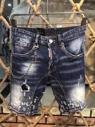 China Real Picture Italy ICON Men D2 Ripped Jeans #0275 Fashion Motorcycle Biker Short Jean Casual Denim Pants Streetwear Hole Style Shorts Jeans supplier jeans pictures suppliers