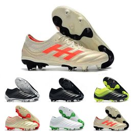 $enCountryForm.capitalKeyWord NZ - Wholesale Discount Soccer Cleats High Quality Copa 19.1 FG AG Football Shoes Cheap Outdoor Copa 19+ FG Soccer Cleats Big Order Fast Delivery