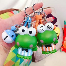 $enCountryForm.capitalKeyWord UK - Fashion Epoxy Cute Frog Keychain Doll Creative Cartoon Wristband Key Chain Ring For Women Bag Pendant Jewelry Gift