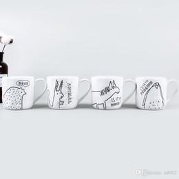 $enCountryForm.capitalKeyWord Australia - White Ceramic Water Tumblers Hidden World Farm Animal Coffee Cups Handmade Mug with Handle High Quality And Iexpensive Originality 8mlA1