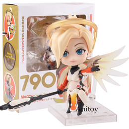 Figures Australia - Nendoroid 790 Mercy Classic Skin Edition Pvc Mercy Figure Action Figure Collectible Model Toy Doll Y190604