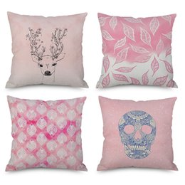 $enCountryForm.capitalKeyWord Australia - Pink Cushion Cover Bedding Room Decoration Pillow Cover For Girls Home Sofa Throw Women Pillow Couch Pillows