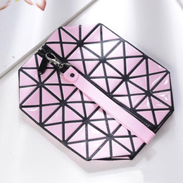 Discount breast milk women - Women Cosmetic Diamond Bag Girls Make Up Organizer PU Leather Large Capacity Storage Handbag Pure Color Fashion 8jy bb