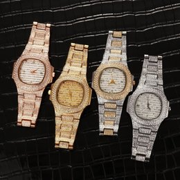 timepiece clocks Australia - Bussiness Quartz Watch Famous Brand Diamond Watch Stainless Steel Timepiece Gold Silver Rose Gold Clock Color Designer Watch SH190929