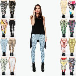 Cupcakes Mix Australia - Lady Leggings Mix 16 Styles Bullet Drop of Water Piano Fish Bone Golden Chains Window Cupcake Donut Tower Money 3D Print Sport Pants (Y022)