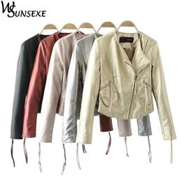 $enCountryForm.capitalKeyWord Australia - Fashion Metal Golden Silver Bright Pu-leather Jacket Coat Zipper Long Sleeve Slim Fit Parkas Outerwear Casual Motorcycle Jackets