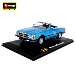 vintage cars toys 2019 - Collectible 1:32 Die Cast Car Models Metal Static Vehicles Toys for Children mkd3 Vintage Cars Benz 1977 450 SL Bithday