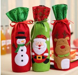 $enCountryForm.capitalKeyWord NZ - Christmas Decorations Santa Claus Wine Bottle Bags Snowman Gifts Champagne Sequins Holders Xmas Home Dinner Party Table Decors