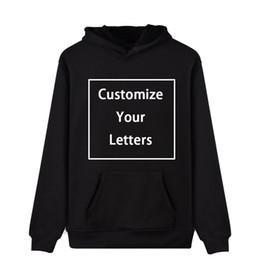 Custom Designed Clothing Australia - WEJNXIN Custom Made Hoodies For Men Women Unisex DIY Logo Design Sweatshirt Customize Streetwear DropShipping Clothing