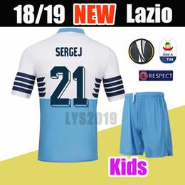 071657388 2018 19 SS Lazio Soccer Jerseys Immobile Parolo J.Correa Futbol Camisetas  Football Camisa Shirt Kit Maillot kids kit
