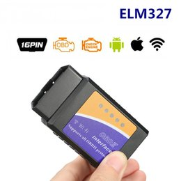 Wholesale Elm327 WiFi OBD Interface V1.5 Wifi Version For IOS Android And Windows PC Adapter Auto Diagnostic Scan Tool