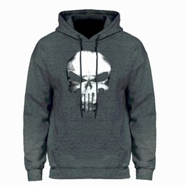 rock sweatshirts UK - Skull Hoodies Hip Hop Streetwear Men Swag Punk Rock Hooded Sweatshirt HipHop Black Skulls 2019 Winter Autumn Fleece Warm Hoody