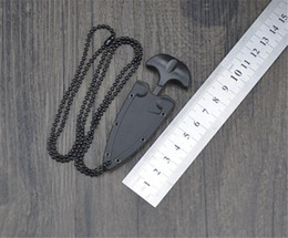 Multifunctional Mini Hanging Necklace Knife Protable Outdoor Camping Knife Rescue Survival Tool on Sale
