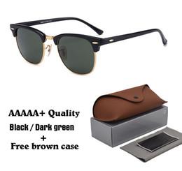 PurPle sun glasses online shopping - 2019 Classic Retro Vintage Glass Lens Sunglasses Men Women Brand Designer Sun glasses uv400 Goggle with brown cases and box