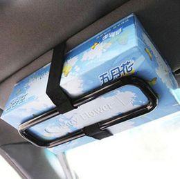 Caja de Clip de Tejido para la Visera de Sol Soporte de Papel de Asiento Caja de Pa/ñuelos de Coche Organizador de Cuero de la PU para el Autom/óvil Vozada Negro