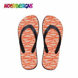 $enCountryForm.capitalKeyWord Australia - NOISYDESIGNS Women Summer Slippers Fashion Whales on Orange Ladies Fit Flops House Pool Shower Shoes Femme Flip Flops Casual