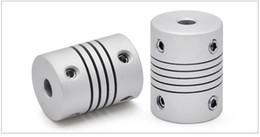 Printer Connector Australia - LRD19L25 Flexible Couplings Diameter Stepper Motor Coupler Aluminum Alloy Joint Connector 3D Printer CNC Machine DIY Encoder