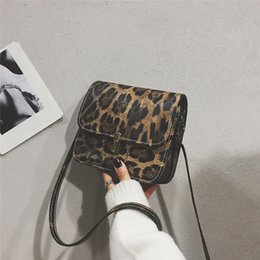 gold pendants leopard 2019 - Fashion lady leopard leather shoulder messenger bag purse Womens Elegant Leopard Print Fawn Pendant Shoulder Bag Messeng