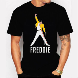 Chinese  New Style Mens Tshirts Freddie Mercury Personality Printing Hot Sale Type Round Collar Casual Style Men Tee manufacturers