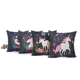 $enCountryForm.capitalKeyWord UK - Unicorn Flower Rainbow Moon Stars Love Heart Cushion Cover Pillow Covers 45X45cm Decorative Sofa Chair Pillow Case Room Decor
