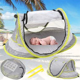 $enCountryForm.capitalKeyWord Australia - New Gray Baby Travel Bed Tent Toy Portable Baby Beach UPF 50+ Sun Shelter Folding Outdoor Tent Travel Bed Mosquito Net Toy