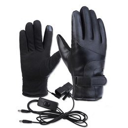 ElEctric warming glovEs online shopping - Winter Heated Gloves Warmer Electric Thermal Gloves Cycling Motorcycle Bicycle Skiing Press Screen Unisex On Off S