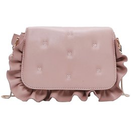 Cute Phone Chains Australia - Korean Sweet Lady Square Bag 2019 New Quality Pu Leather Women's Designer Handbag Cute Wavy Edge Chain Shoulder Messenger Bags