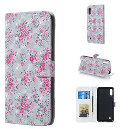 Roses Butterflies Australia - For Samsung Galaxy M10 Beautiful 3D Three Dimensional Rose Flower Butterfly Design Case Cover with Wallet Card Slot Photo Frame(M10)
