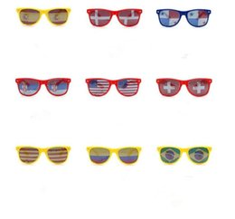 Wholesale World Cup Sunglasses Bar Party Fan Sun glasses National flag Sunglasses Sticker glasses Fashion Diving Designer Eyeglass Sun Shade LT840