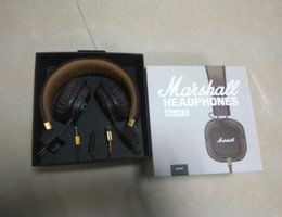 Iphone Ii Australia - Marshall Major II 2.0 Headphones in Black DJ Studio Headphones Deep Bass Noise Isolating headset for iPhone Samsung