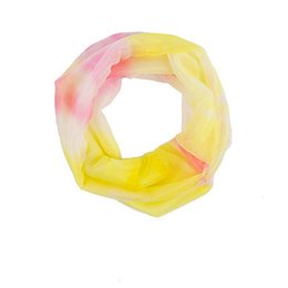 $enCountryForm.capitalKeyWord UK - Women Outdoor Colorful Sunscreen Chiffon Gradient Cowl Neck Scarf Shawl Ring Acrylic 24cm Scarves Adult Harajuku Wraps