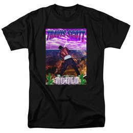 Figures Australia - Fashion Designer Mens T Shirts TRAVIS SCOTT ASTROWORLD O-Neck Short Sleeved Figure Printed Tees Teenagers Summer Tops Causal Mens Clothing