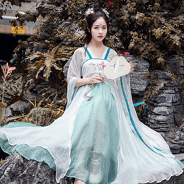1f708569d Women Cosplay Fairy Costume Hanfu Clothing Chinese Traditional Ancient Dress  Dance Stage wear Tang Dynasty princess Outfit