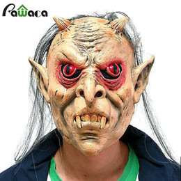 Female Half Face Mask Australia - latex mask Halloween Horror Scary Man Male Female Latex Masks Adult Realistic Grimace Ghost Bleeding Full Face Head Mask For Costume Party