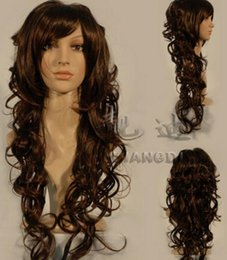 $enCountryForm.capitalKeyWord NZ - WIG free shipping Fashion charm lolita long wave color brown reality anime manga curly wig